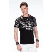 Cipo & Baxx fekete divatos póló CT371 BLACK