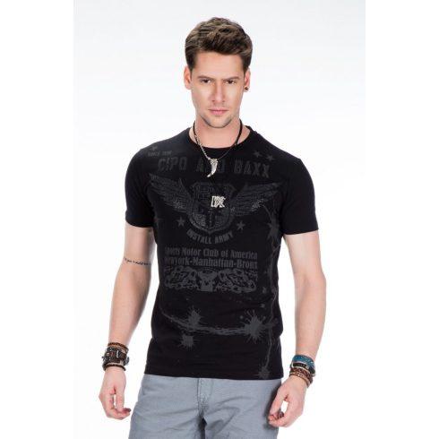 Cipo & Baxx fekete póló CT373 BLACK