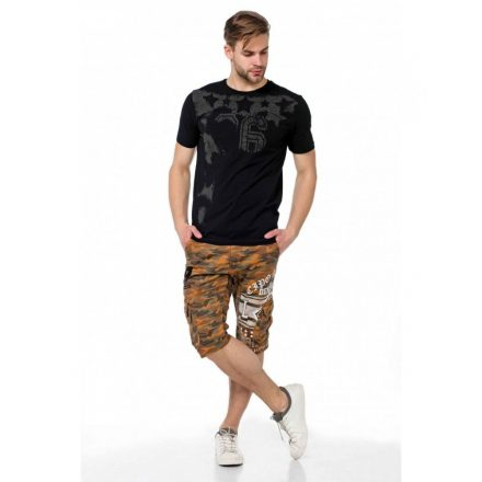 Cipo & Baxx divatos fekete póló CT374 BLACK
