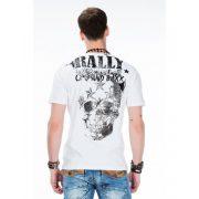 Cipo & Baxx fashionable white T-shirt CT374 WHITE