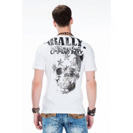 Cipo & Baxx divatos fehér póló CT374 WHITE
