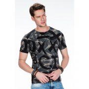 Cipo & Baxx antracit divatos férfi póló CT378 ANTHRACITE