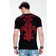 Cipo & Baxx black men's T-shirt CT385 BLACK