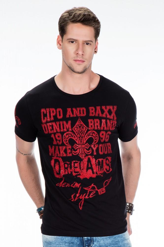 cipo baxx fekete férfi póló CT385 BLACK - Cipo Baxx Denim Brand ... 724f855f07