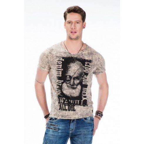 Cipo & Baxx férfi póló CT408 BROWN