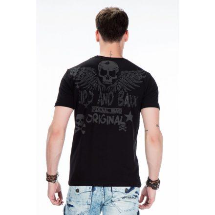 Cipo & Baxx divatos férfi póló CT411 BLACK