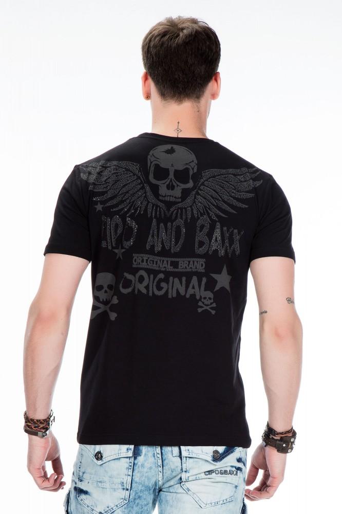cipo baxx divatos férfi póló CT411 BLACK - Cipo Baxx Denim Brand ... 27e12dc2ab