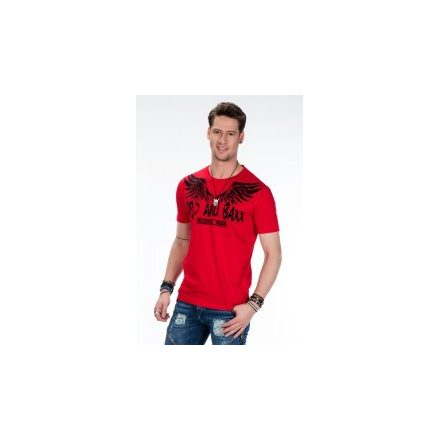 Cipo & Baxx divatos férfi póló CT411 RED