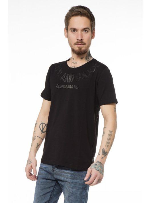 Cipo & Baxx divatos fekete férfi póló CT413 BLACK