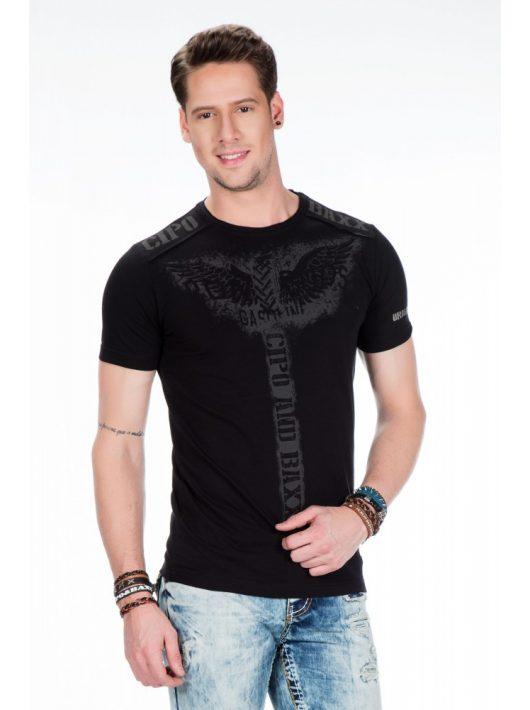 Cipo & Baxx prémium minőségű fekete póló
