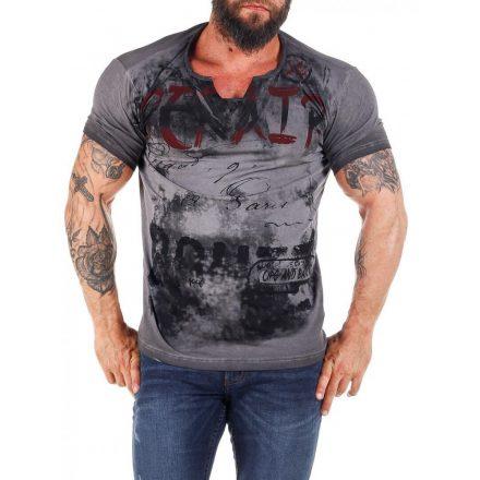 Cipo & Baxx divatos férfi póló CT428 Anthracite