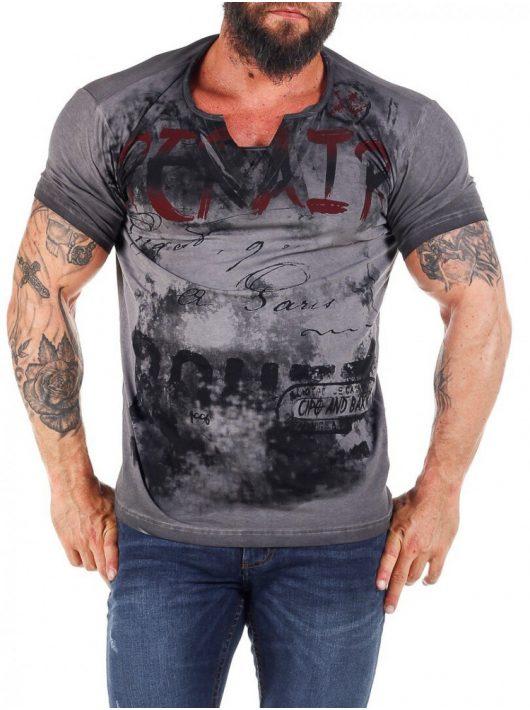 Cipo & Baxx divatos V nyakú férfi póló