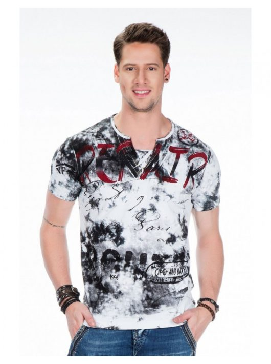 Cipo & Baxx divatos férfi szürke póló !