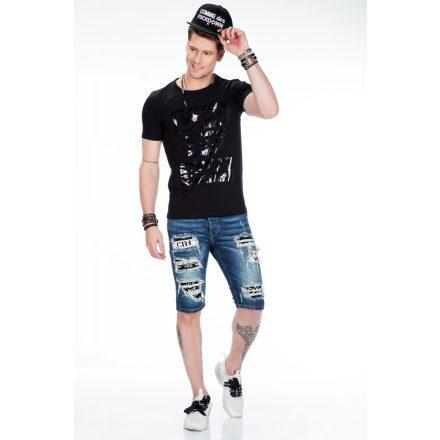 Cipo & Baxx black men's T-shirt CT430 BLACK