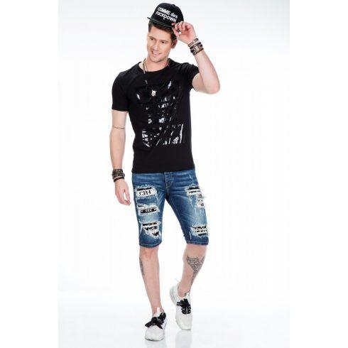 Cipo & Baxx fekete férfi póló CT430 BLACK