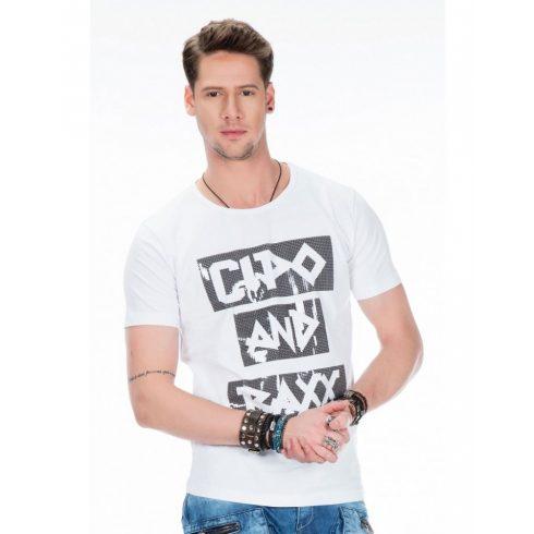 Cipo & Baxx fehér divatos póló CT430 WHITE
