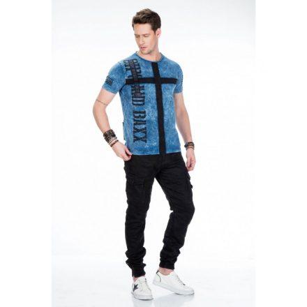Cipo & Baxx prémium minőségű kék póló CT441 Blue