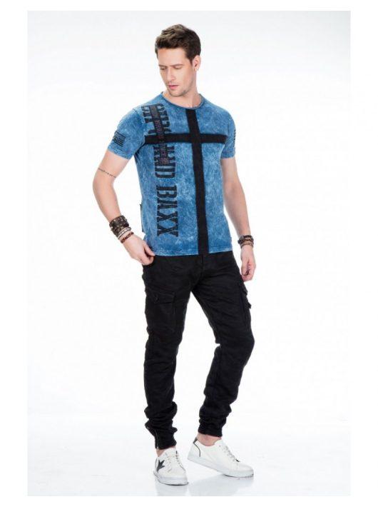 Cipo & Baxx prémium minőségű kék póló