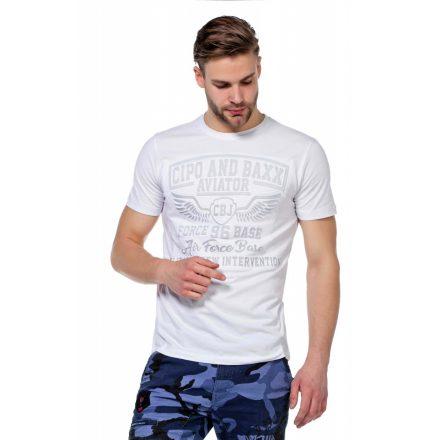 Cipo & Baxx divatos férfi póló CT450 White