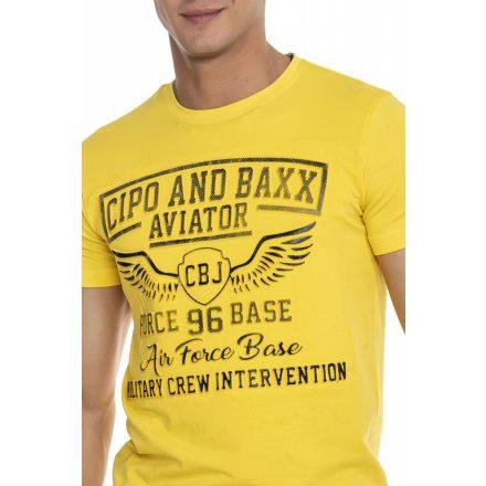 Cipo & Baxx divatos férfi póló CT450 Yellow
