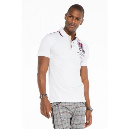 Cipo & Baxx divatos férfi póló CT475 White