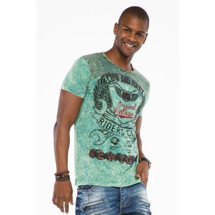 Cipo & Baxx divatos férfi póló CT479 Mint