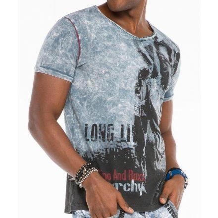 Cipo & Baxx divatos férfi póló CT483 GREY