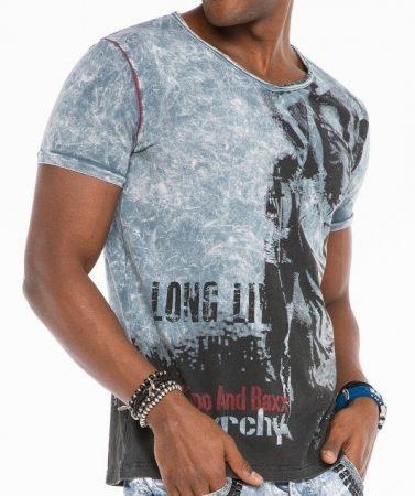cipo baxx divatos férfi póló CT483grey - Cipo Baxx Denim Brand - Kabátok  d2cb61842d