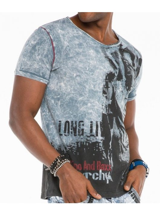 Cipo & Baxx divatos férfi póló CT483grey