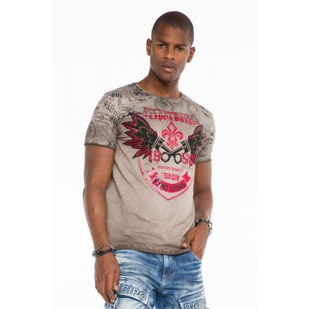 Cipo & Baxx fashionable men's T-shirt CT484anthracitee