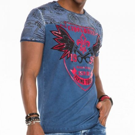 Cipo & Baxx fashionable men's T-shirt CT484indigo
