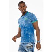 Cipo & Baxx divatos férfi póló CT489 Indigo