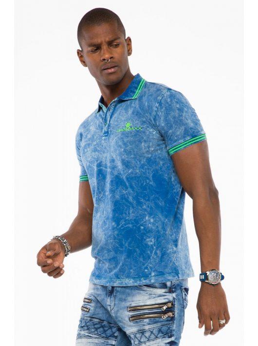 Cipo & Baxx divatos férfi póló CT489indigo