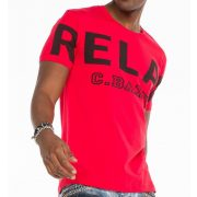 Cipo & Baxx fashionable men's T-shirt CT493red
