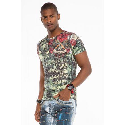 Cipo & Baxx divatos férfi póló CT495Black