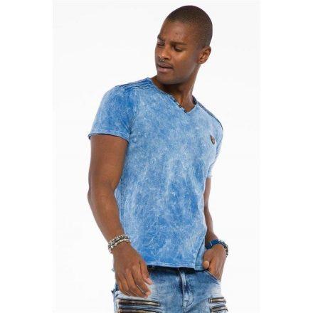 Cipo&Baxx divatos férfi póló CT497BLUE
