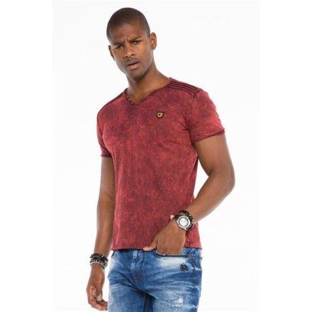 Cipo&Baxx divatos férfi póló CT497BORDEAUX
