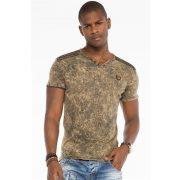 Cipo&Baxx divatos férfi póló CT497BROWN