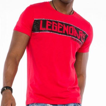 Cipo & Baxx fashionable men's T-shirt CT501red