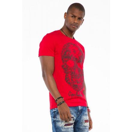 Cipo & Baxx fashionable men's T-shirt CT502red