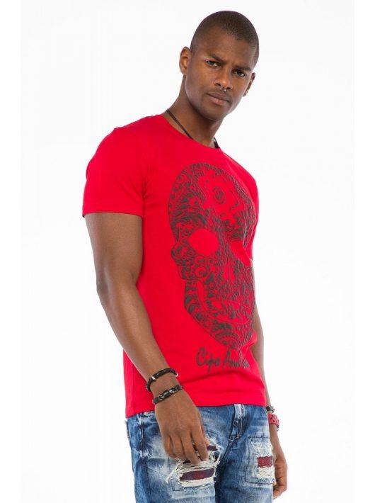 Cipo & Baxx divatos férfi póló CT502red