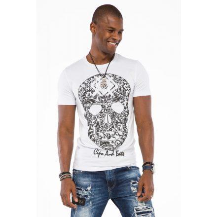 Cipo & Baxx fashionable men's T-shirt CT502white
