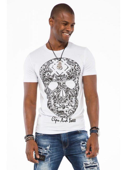 Cipo & Baxx divatos férfi póló CT502white