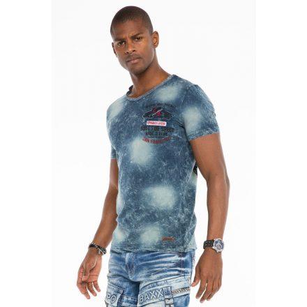 Cipo & Baxx fashionable men's T-shirt CT503darkblue