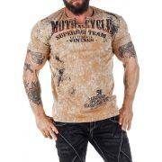 Cipo & Baxx divatos férfi póló CT504MUSTARD