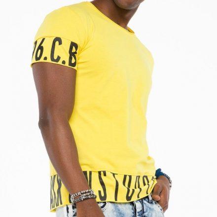 Cipo & Baxx divatos férfi póló CT505 Yellow