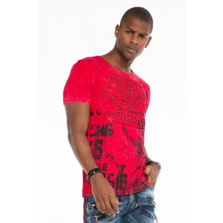 Cipo & Baxx fashionable men's T-shirt CT506red