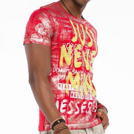 Cipo & Baxx fashionable men's T-shirt CT507red