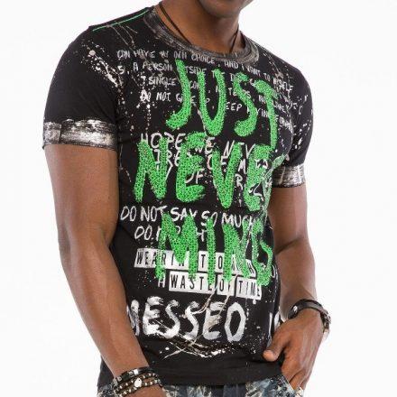 Cipo & Baxx fashionable men's T-shirt CT507black