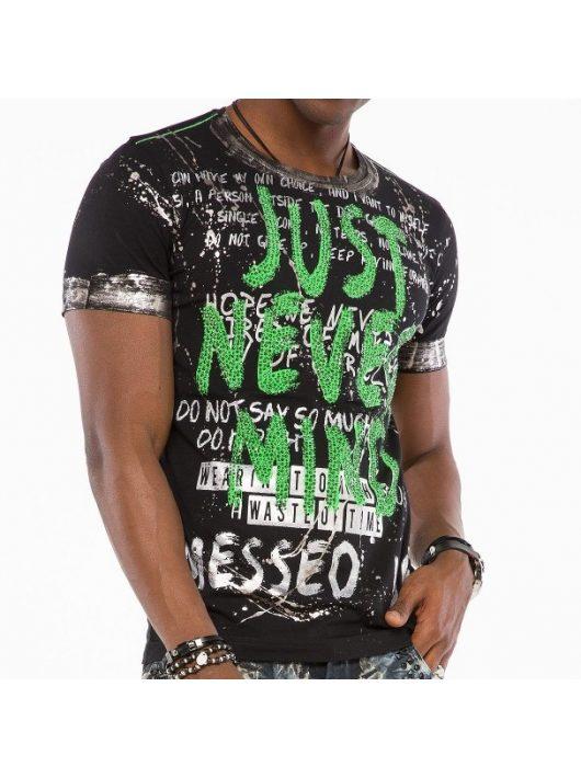 Cipo & Baxx divatos férfi póló CT507black